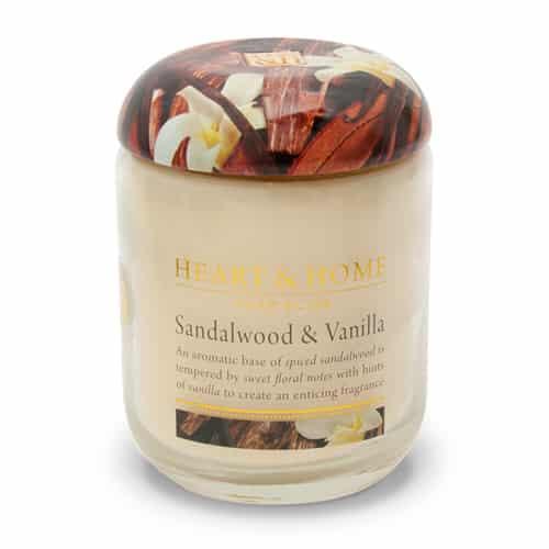 heart&home cire de soja - bois de santal et vanille