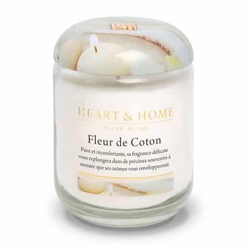heart&home cire de soja - fleur de coton