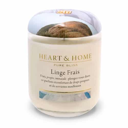 heart&home cire de soja - linge frais