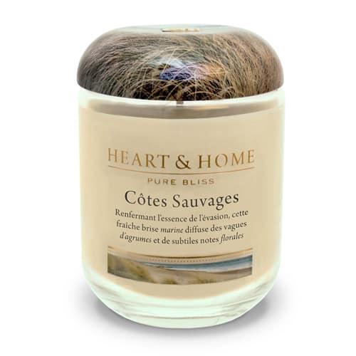 heart&home cire de soja - côtes sauvages