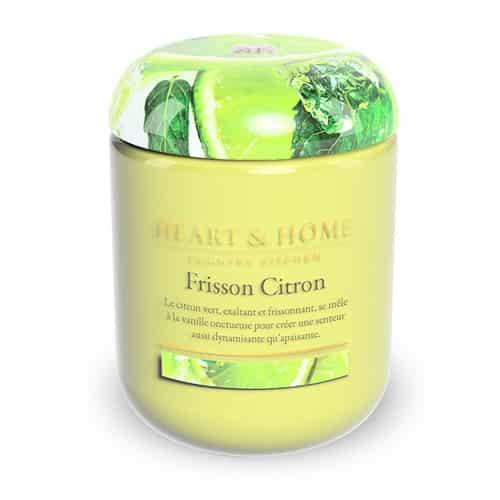 heart&home cire de soja - frisson citron