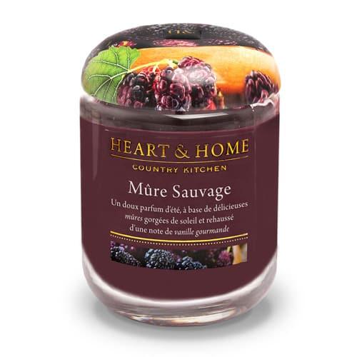 heart&home cire de soja - mûre sauvage
