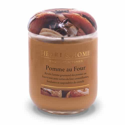 heart&home cire de soja - pomme au four