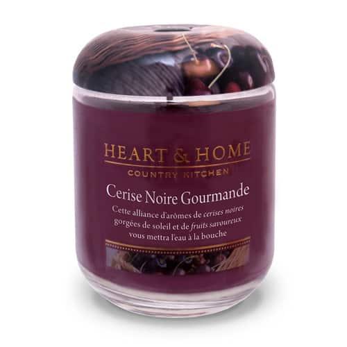 heart&home cire de soja - cerise noire gourmande