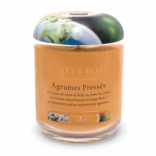 heart&home cire de soja - agrumes pressés