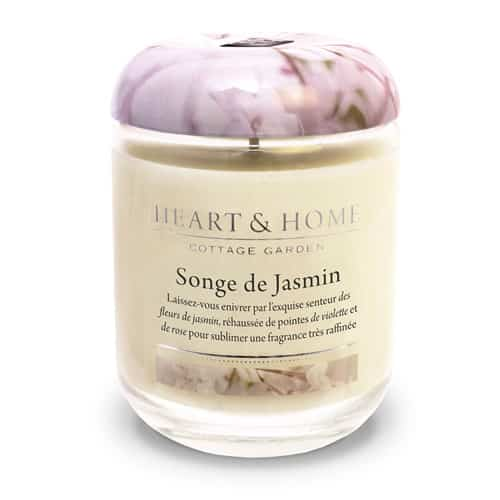 heart&home cire de soja - songe de jasmin